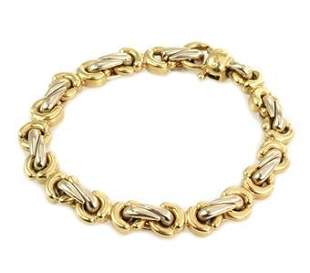 Chimento 18k Two Tone Gold Fancy Link Bracelet
