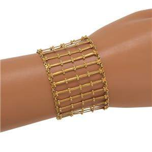 Carla Amorim 18k Yellow Gold 39mm Wide Flex Bar Link