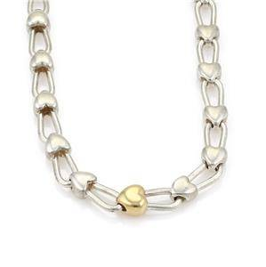 Tiffany & Co. Sterling Silver 18k Yellow Gold Heart