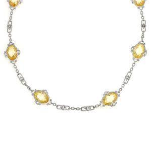 Judith Ripka Arielle Canary Crystal Diamond 18k Gold