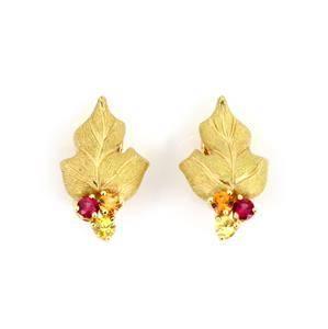 Tiffa+B7ny & Co. Multicolor Garnets 18k Yellow Gold