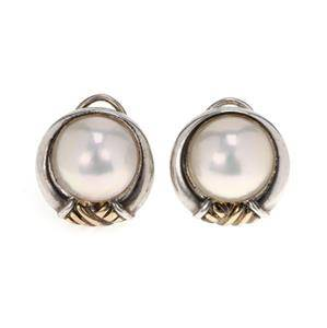 Tiffany & Co Vintage Pearls 925 Silver 18k Gold Clip On