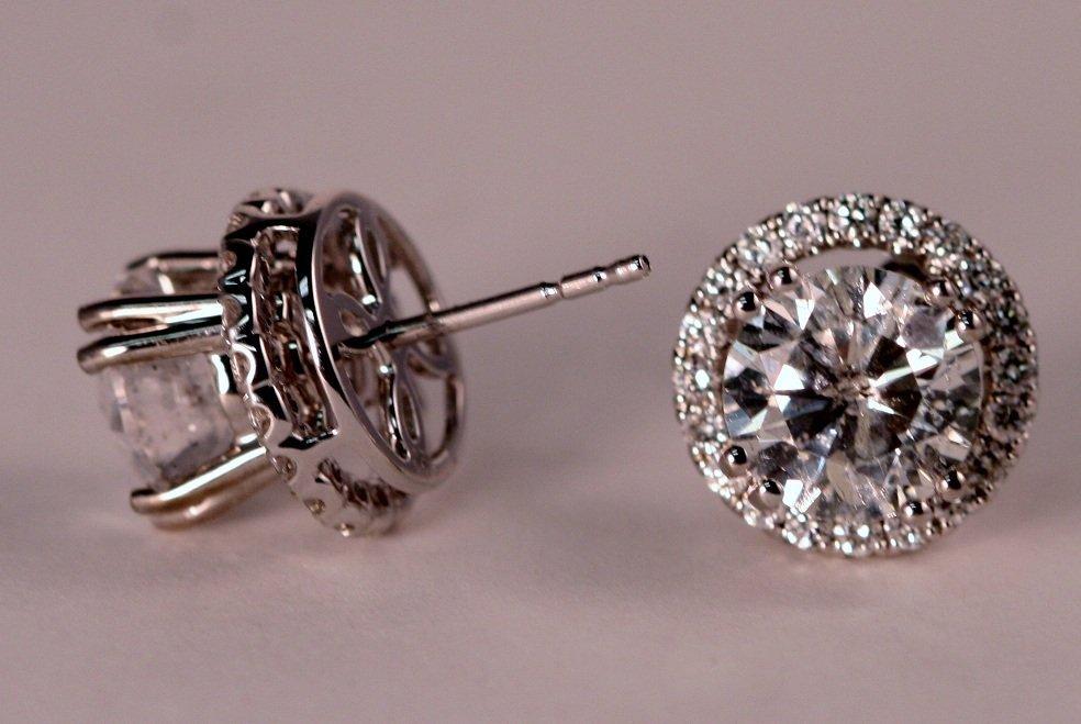 4.08 carat Diamond Stud Earrings.