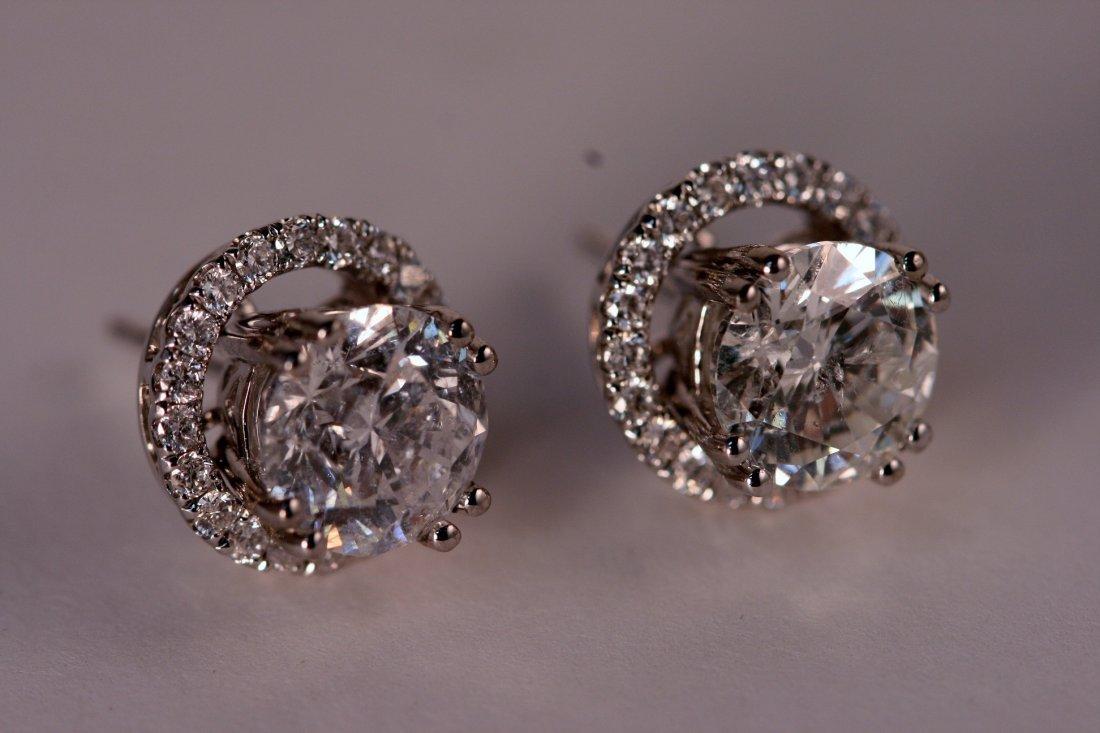 4.08 carat Diamond Stud Earrings. - 2