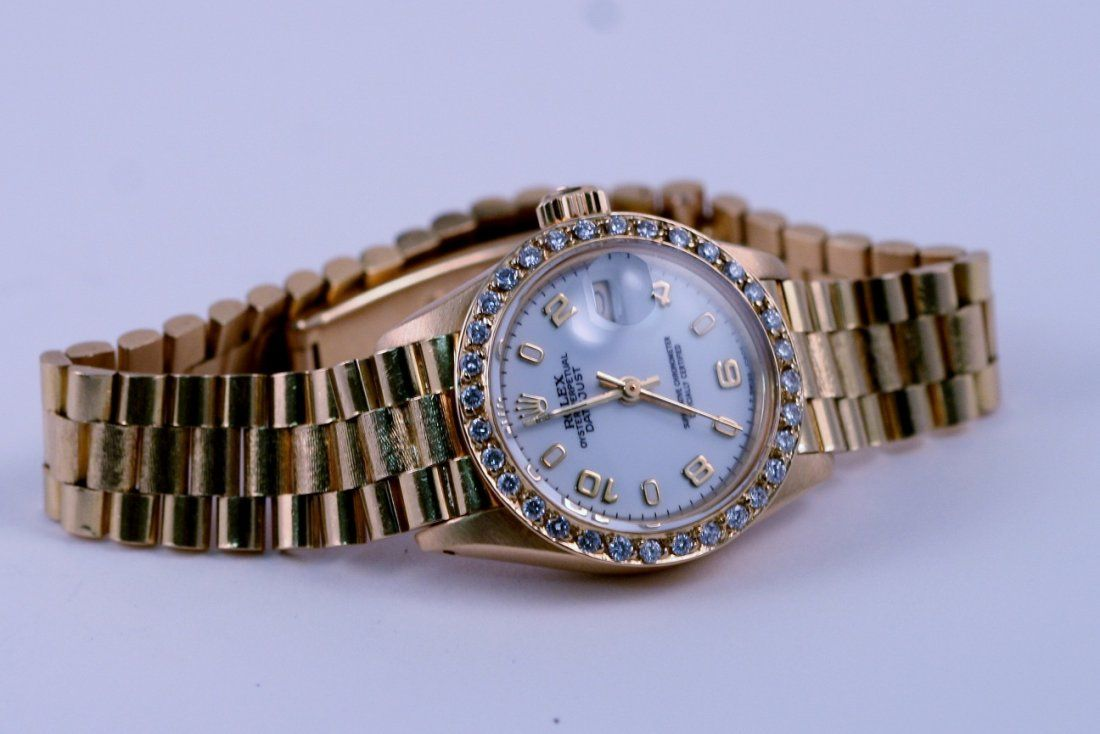 Rolex Ladies 18k Yellow Gold Diamond Watch - AIG Apprai