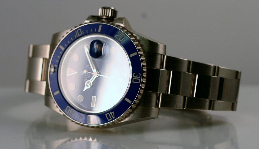 Rolex Gents 18k White Gold Submariner. - 2
