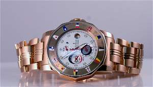 Gents Corum Rose Gold Tides Watch with box.
