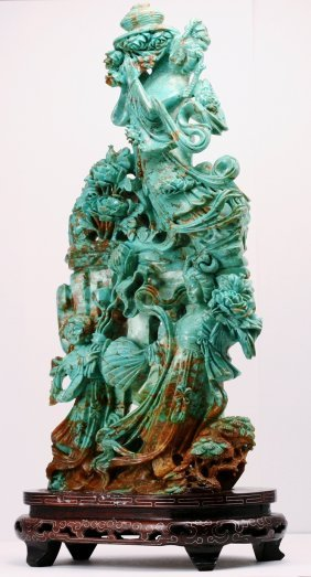7: Perian Turquoise Large Carving