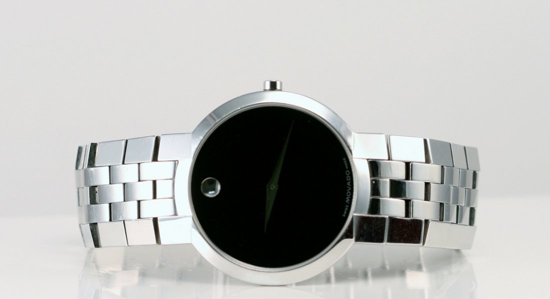 13: Movado Stainless in Box.