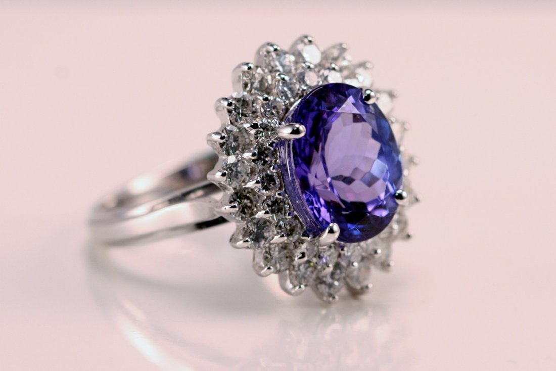 14: AIG Appraised $11,315.00  Diamond & Tanzanite Ring