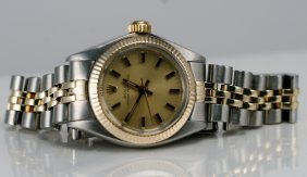 23: Rolex Ladies 2tone , Oyster Perpetual.