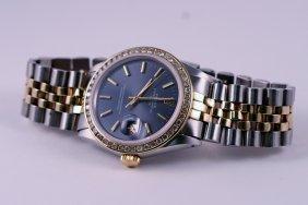 24: Rolex Gents 2tone Diamond Bezel.