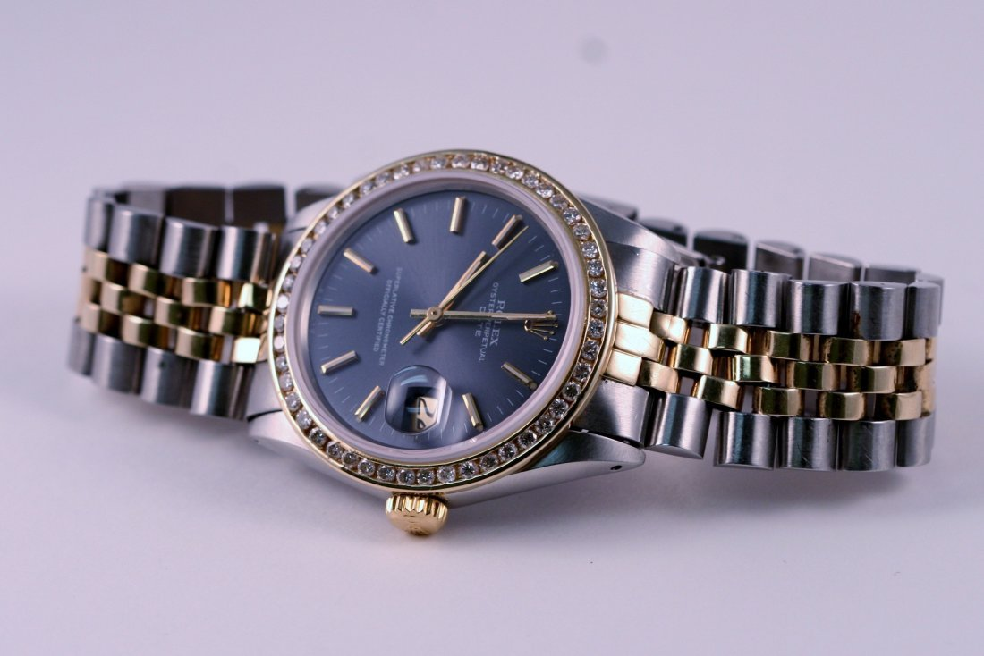 24: Rolex Gents 2tone Diamond Bezel.