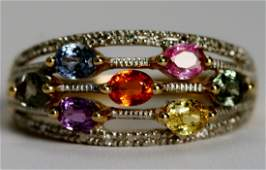 71: Ring Diamonds and Multi Color Sapphires.