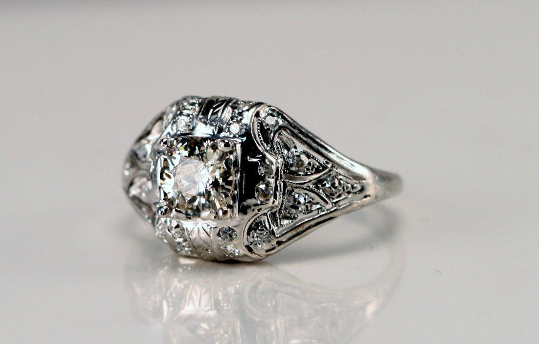 5: PLATINUM DECO DIAMOND RING