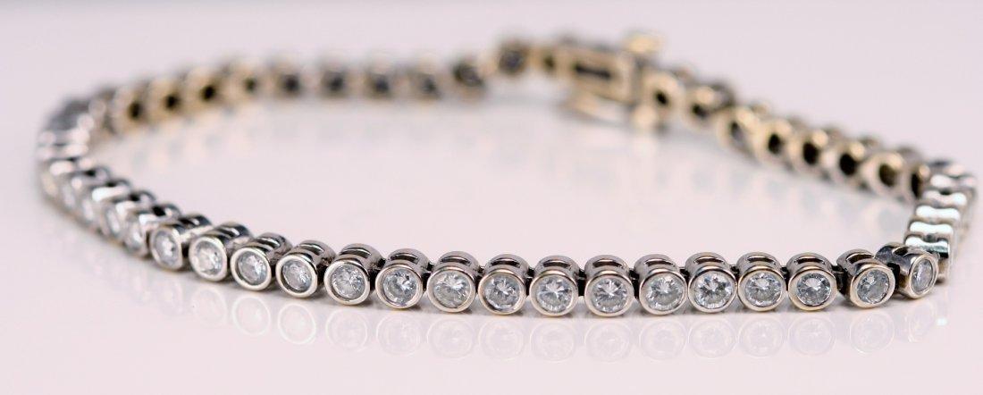 8: ESTATE DIAMOND TENNIS BRACELET