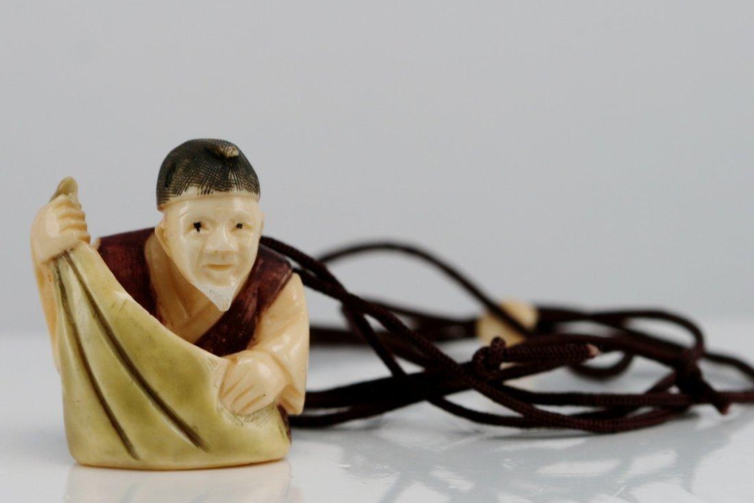 11: IVORY CARVED NETSUKE NECKLACE