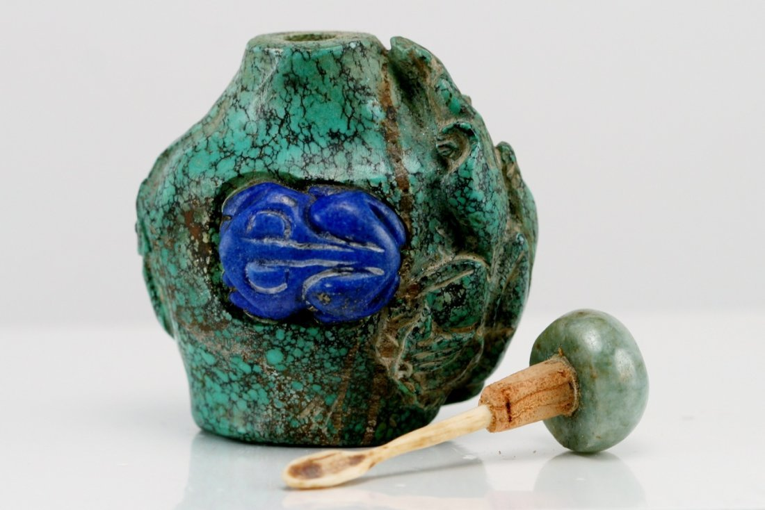 13: OLD TURQUOISE SNUFF BOTTLE