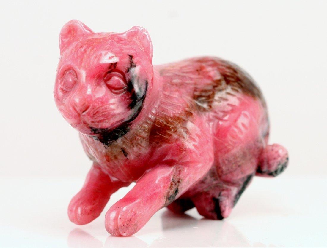 15: PINK AGATE CAT SITTING