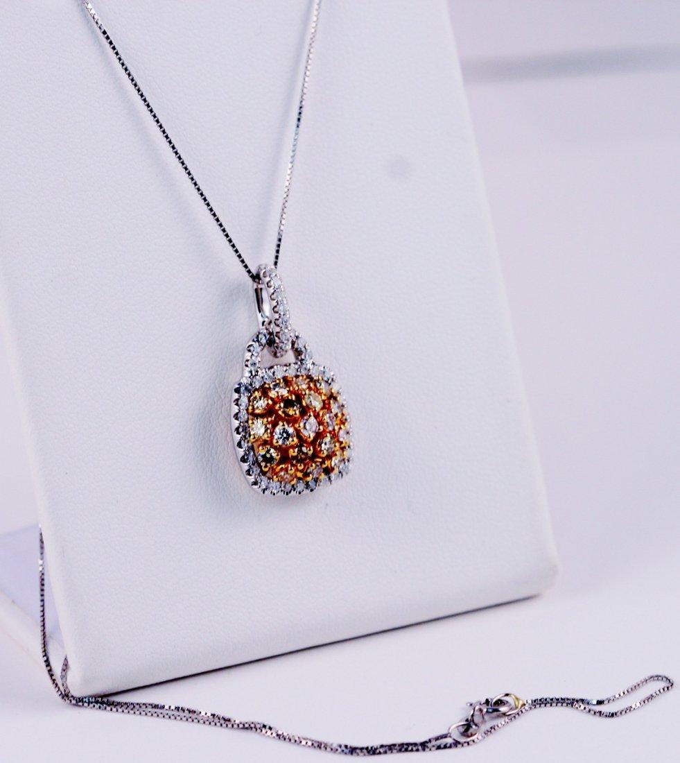 25: Multi Color Diamond Necklace 14k.