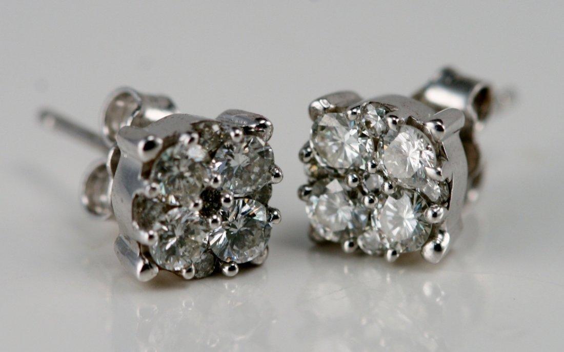 14KW/G DIAMOND EARRINGS