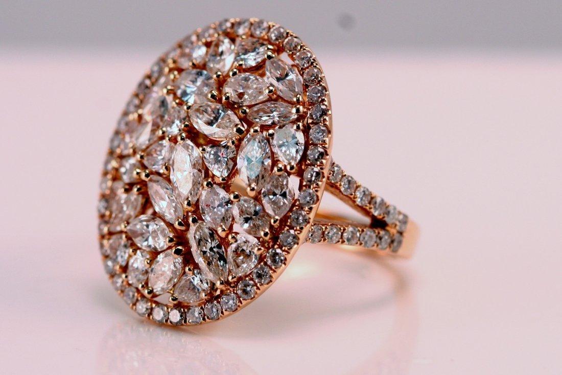 AIG Appraised $8200.00 Ladies Rose Gold Diamond Ring.
