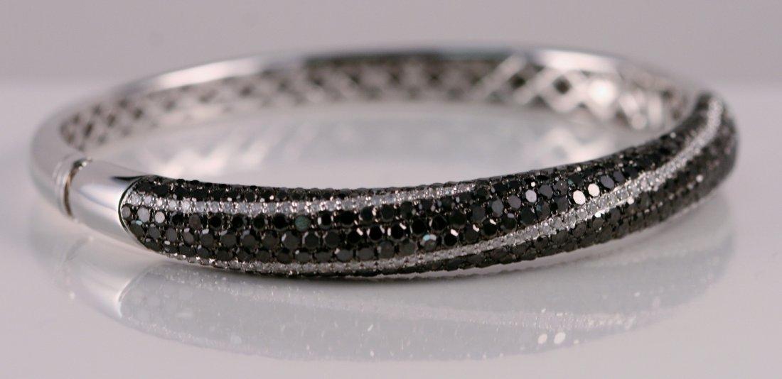AIG Appraised $6750.00 Black and White Diamond Bangle B