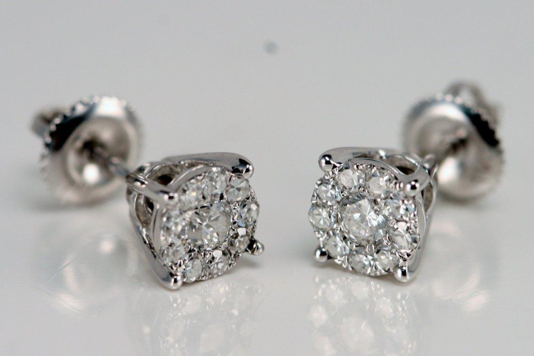 14K WT GOLD DIAMOND EARRINGS