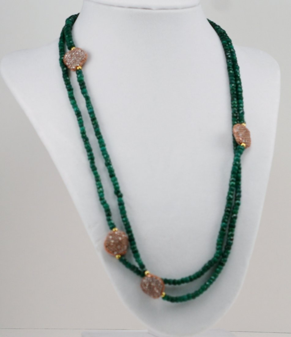 DESIGNER EMERALD NECKLACE