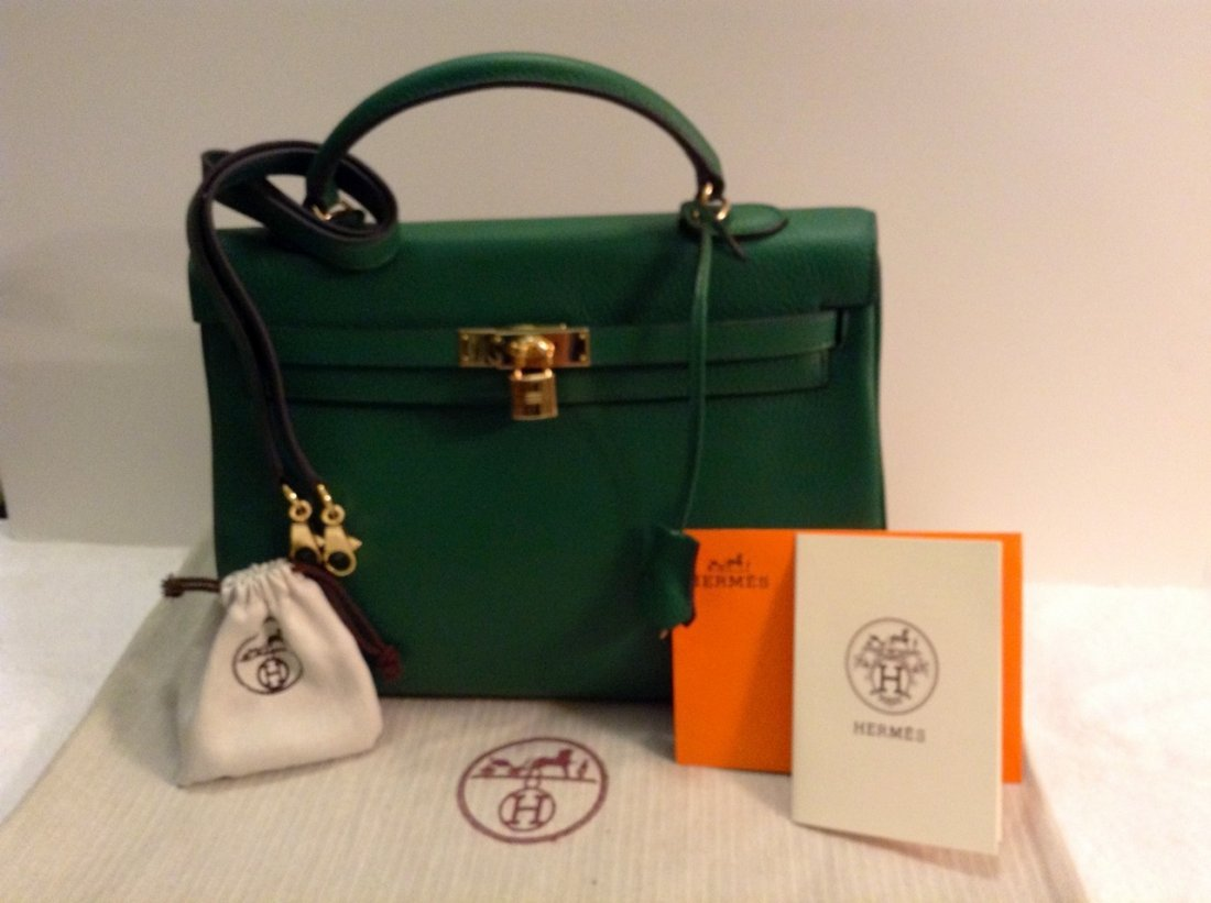 Dark Green Hermes Kelly Bag