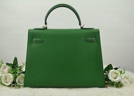 Dark Green Hermes Kelly Bag - 2