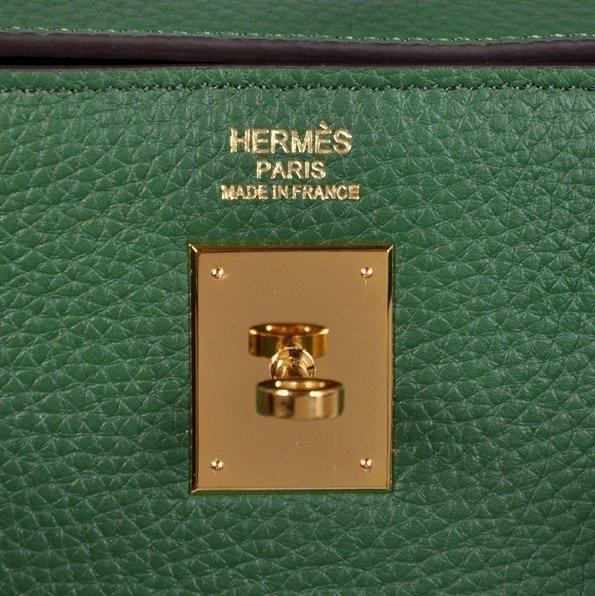 Dark Green Hermes Kelly Bag - 3
