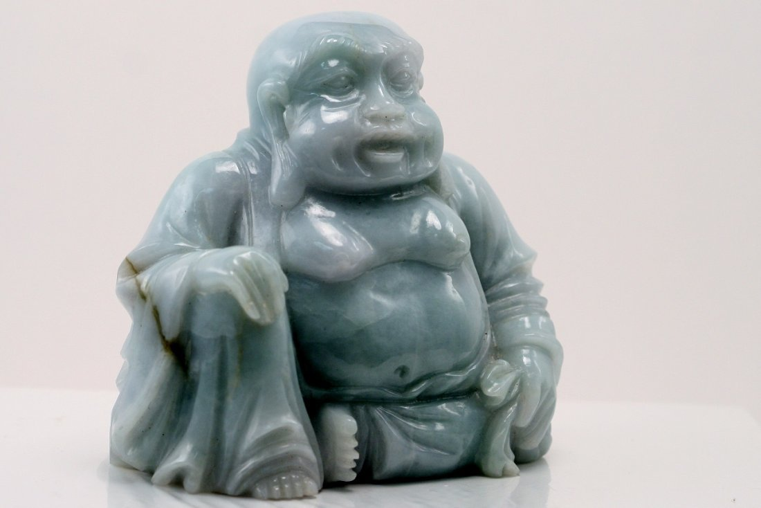 Jadeite Carved Sitting Buddha