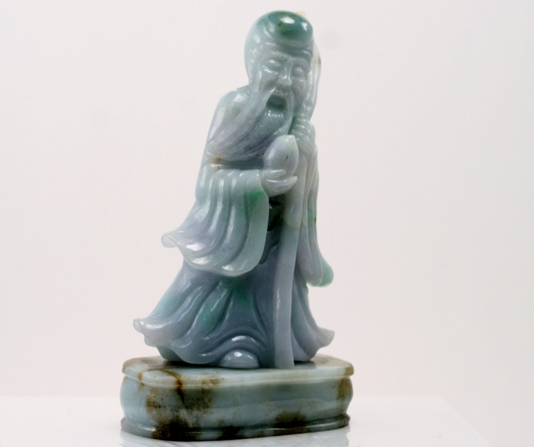 Jadeite Longevity Figure