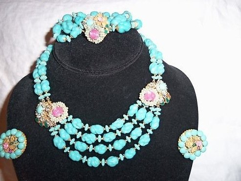 Miriam Haskell Necklace, Bracelet & Earring Set