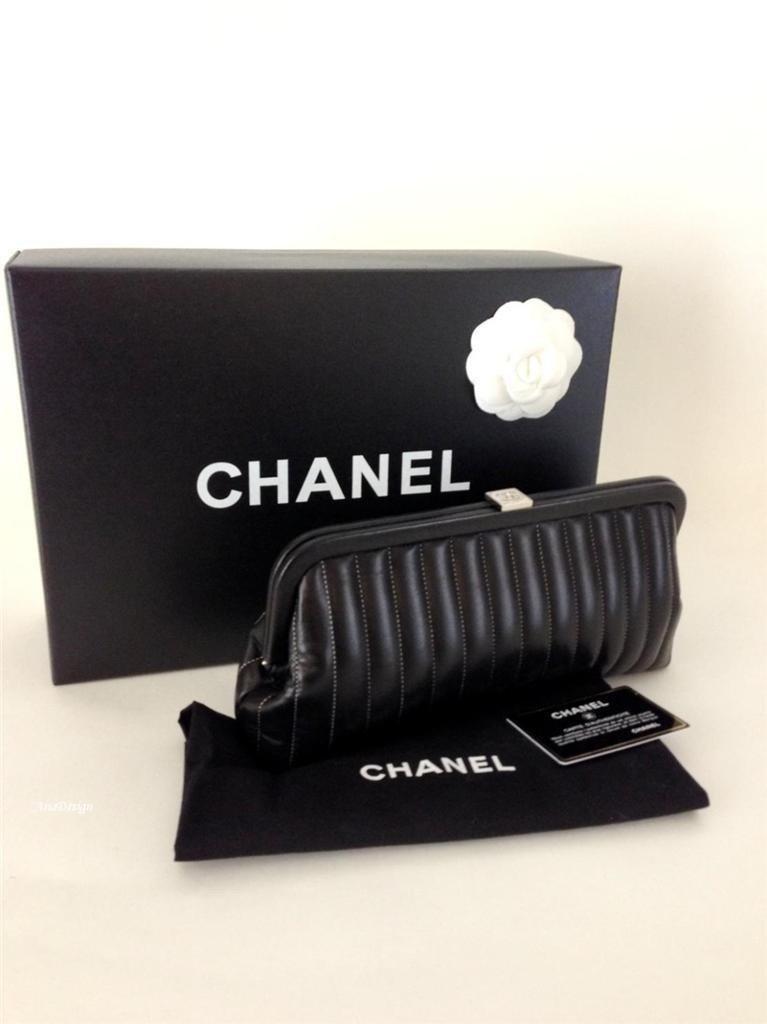"CHANEL  Timeless ""Mademoiselle"" Black Lambskin Leather"