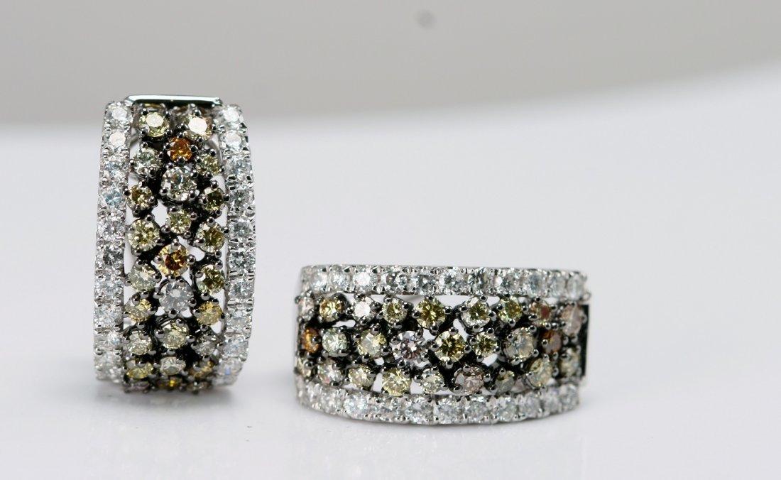 14K W/G FANCY COLOR DIAMOND ER