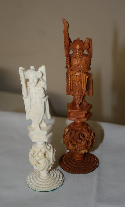 CHINESE CARVED CHESS SET