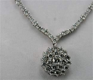 14K W/G DIAMOND NECKLACE