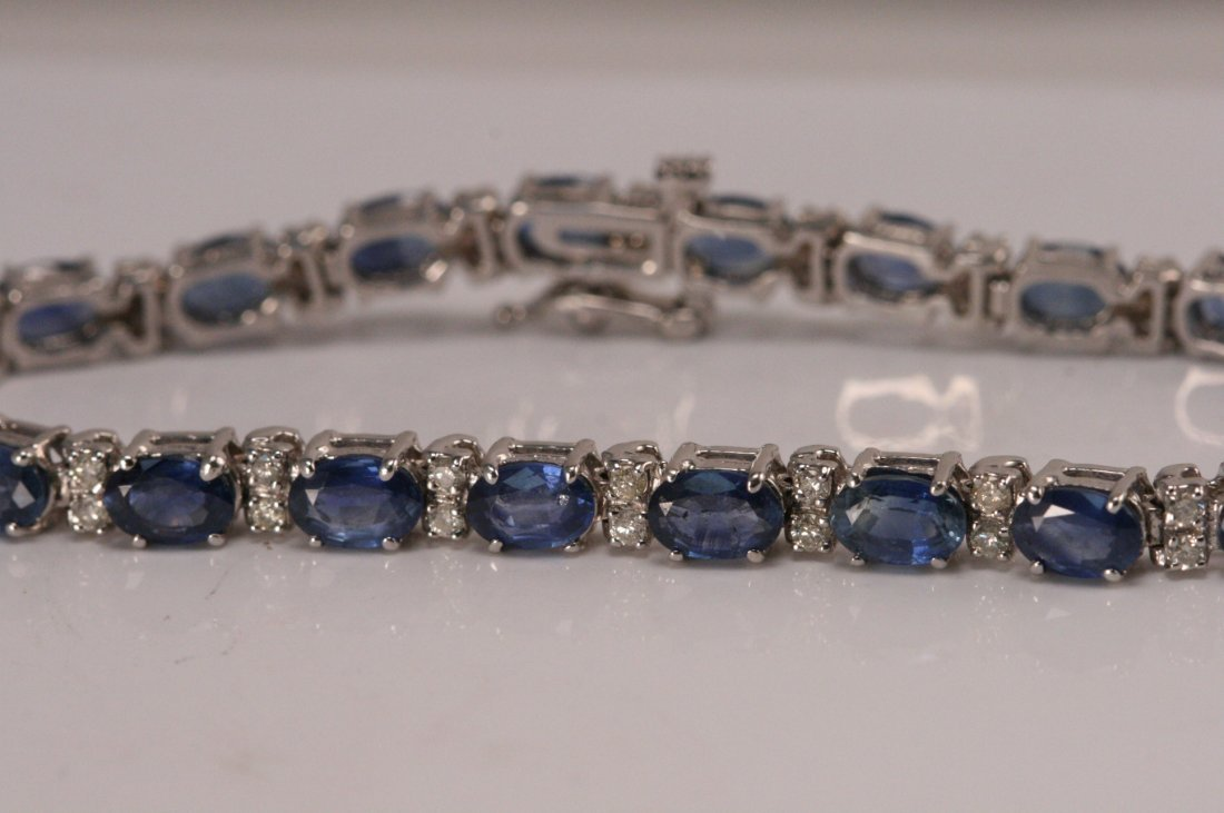 14k w/g and tanzanite bracelet with diamonds