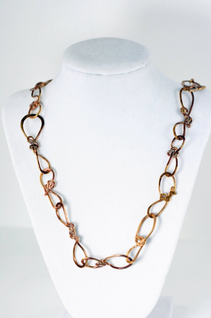 *ONE OF A KIND* HAND MADE HAMMERED COPPER NECKLACE