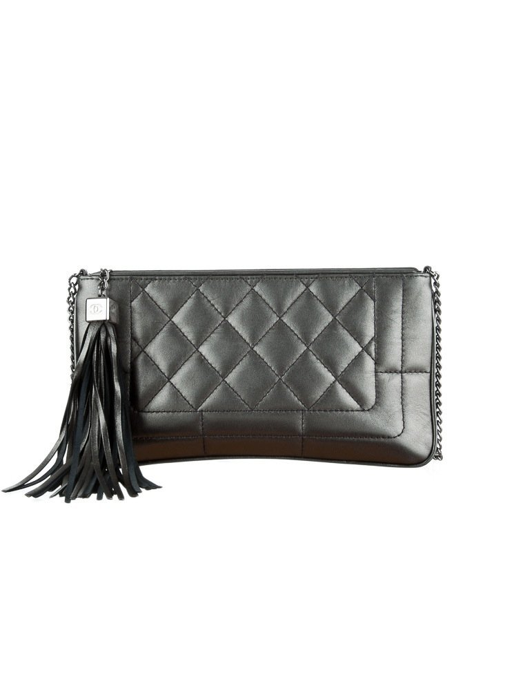 CHANEL AUTHENTIC BOY STYLE QUILTED LAMBSKIN BAG