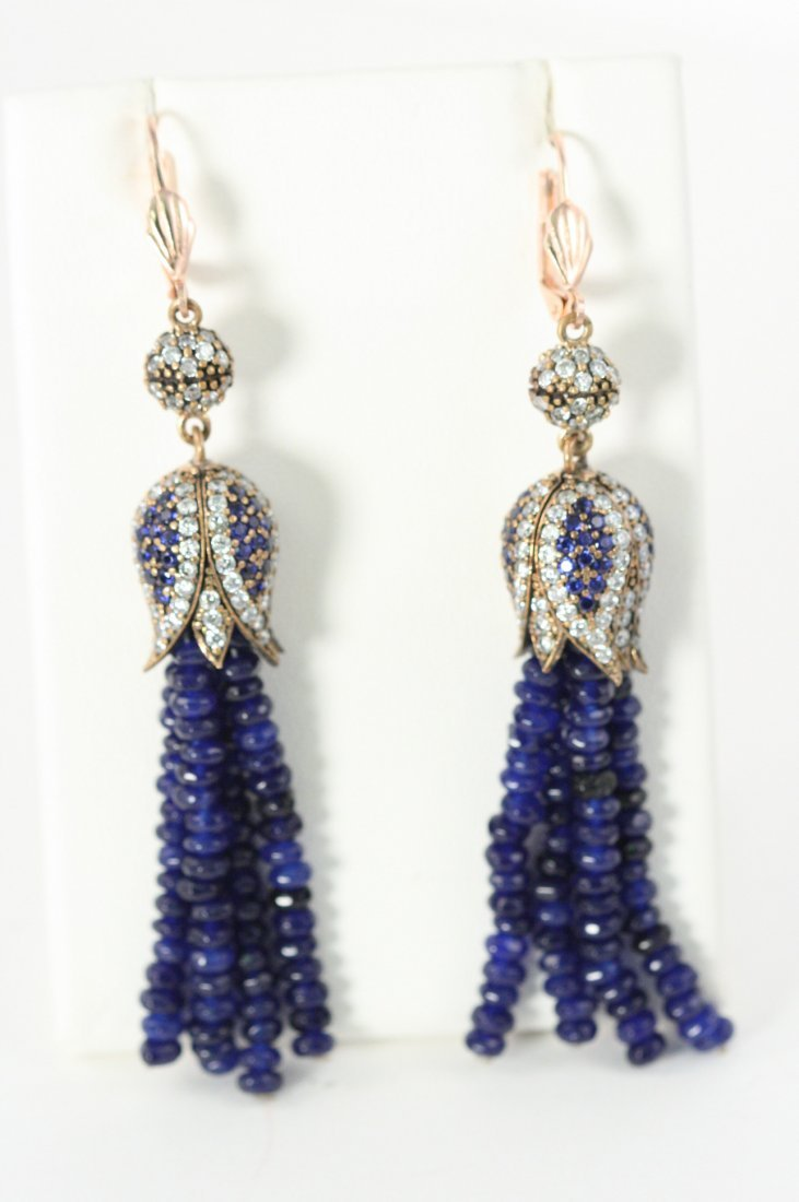 ALL NATURAL SAPPHIRE EARRINGS TULIP STYLE