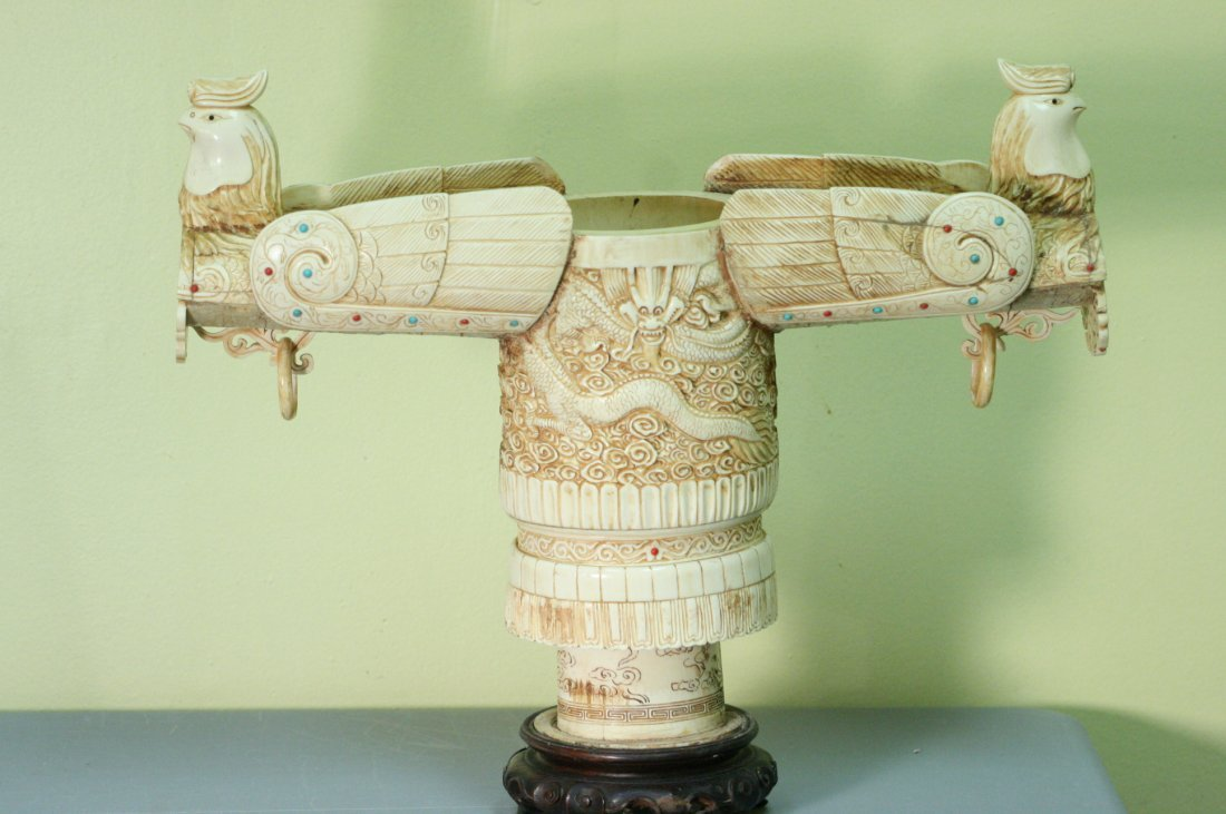 VINTAGE VERY DETAILED IVORY CARVING