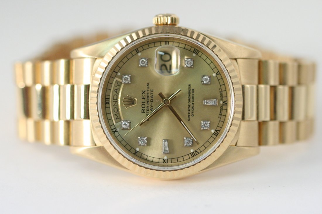 ROLEX PRESIDENT 18K GOLD WITH DIAMOND DIAL