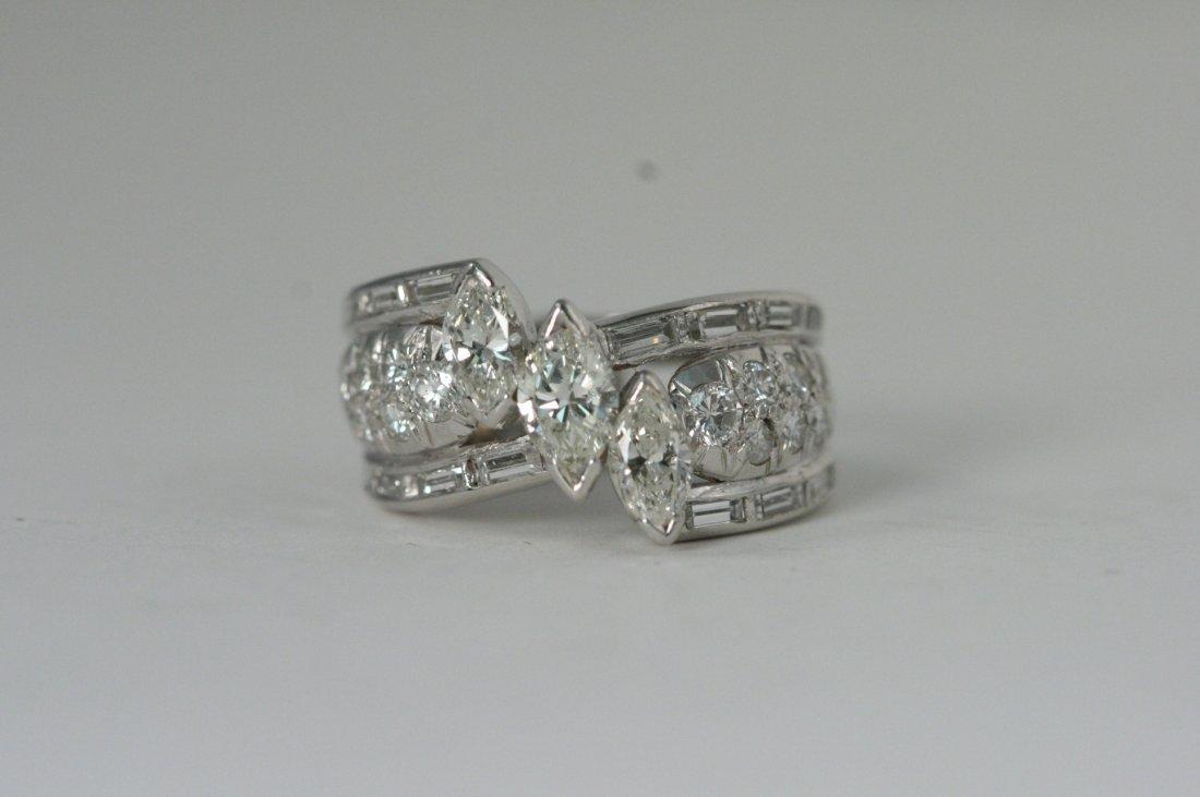 PLATINUM 3CT DIAMOND RING