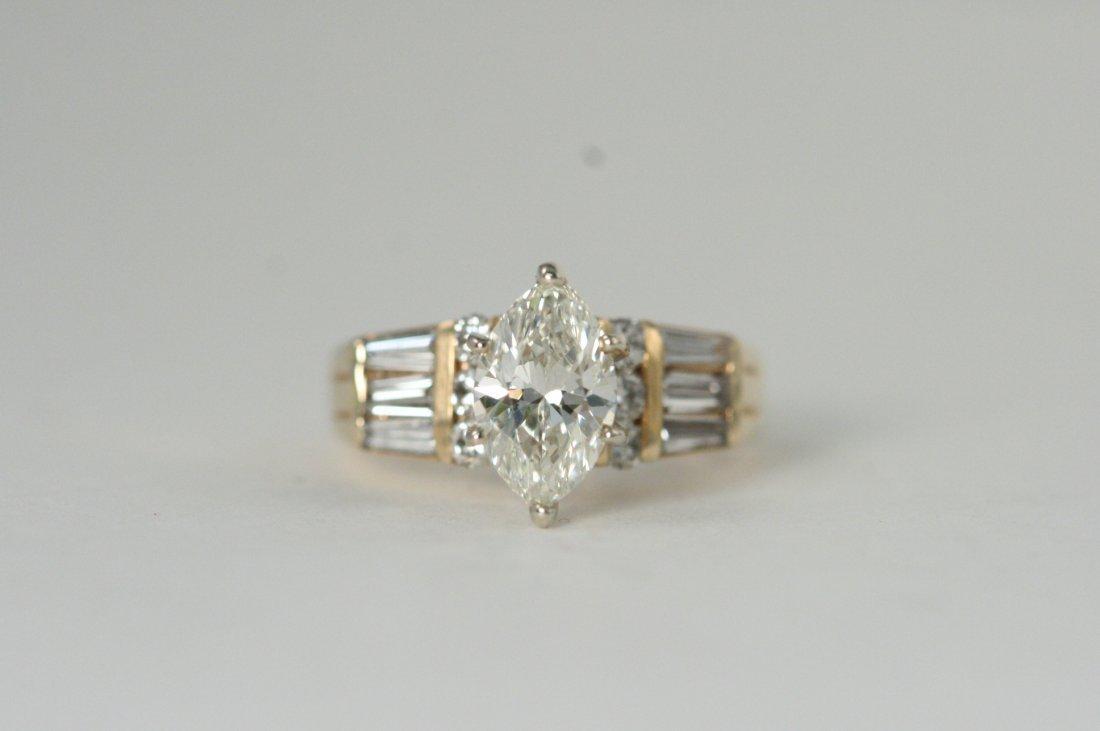 14K Y/G GORGEOUS DIAMOND RING