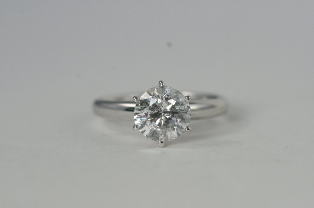 14K W/G DIAMOND RING WITH 2.07CTS