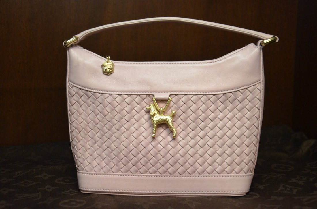 BARRY KISELSTEIN CORD PALE PINK HAND BAG