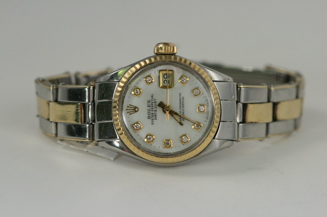 ROLEX DATEJUST WITH CUSTOM AFTER MARKET DIAMOND DIAL